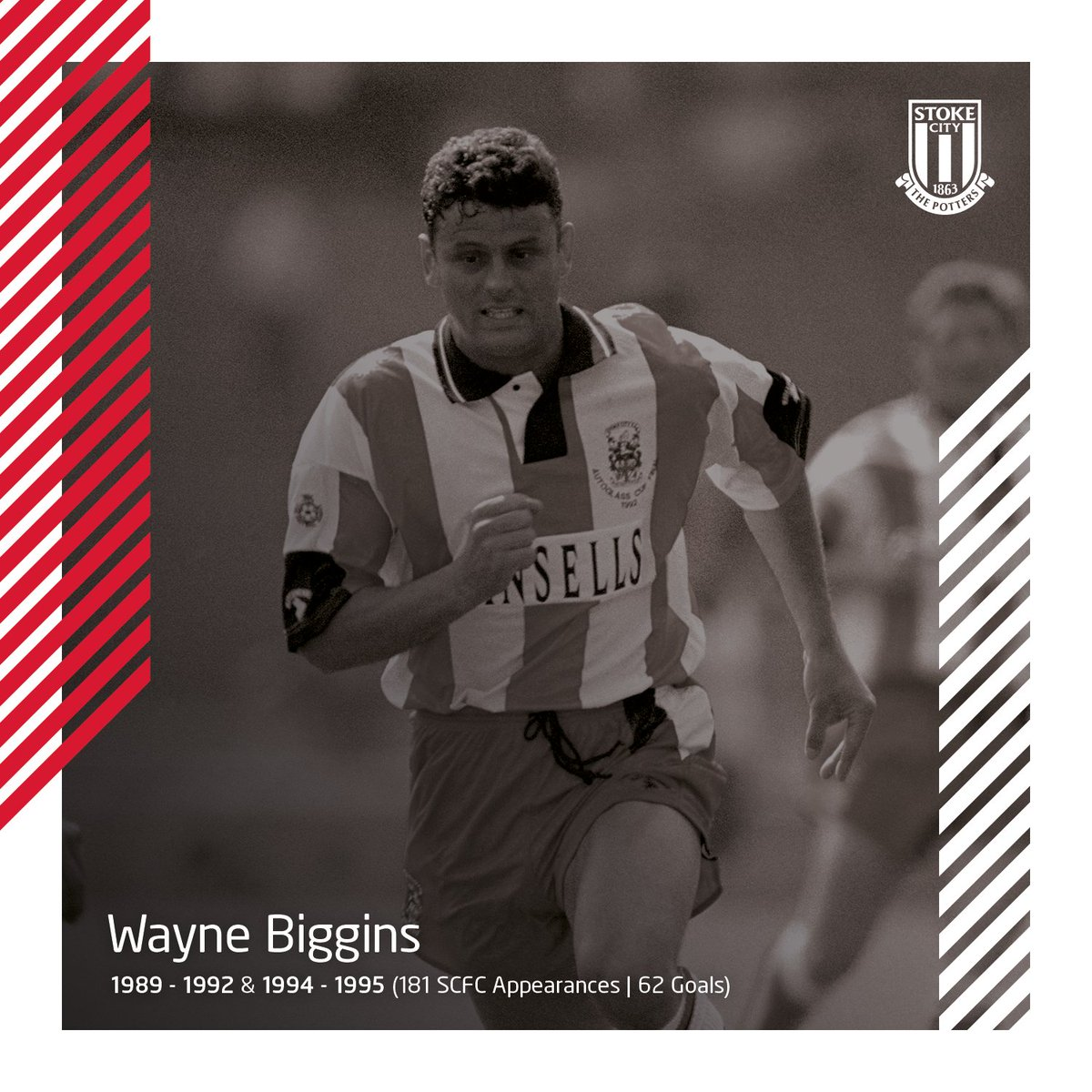 Stoke City Fiche Equipe Football Eurosport Selis Electric Wheel Chair Fcstokecity Happy Birthday To Former Striker Wayne Biggins Who Turns 57 Today Bertie Notched 62 Goals In 181 Appeara