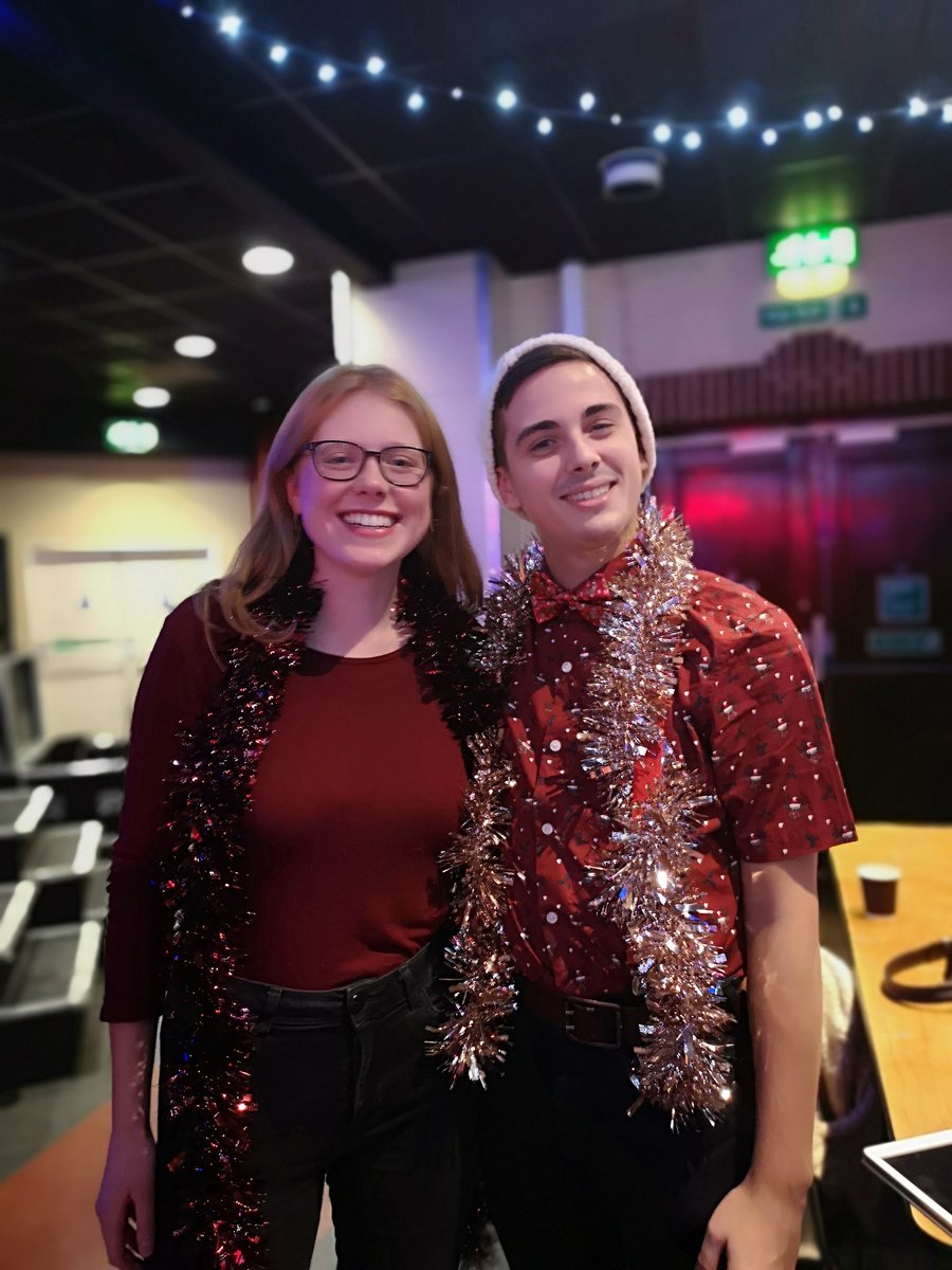 test Twitter Media - Callum and Lucy REALLY into the christmas spirit for their performance in stags!🎄#SHOWCASE #UoSfestive @UoSMusic @ArtsUniSouth @unisouthampton https://t.co/BmHKCX3Ffa