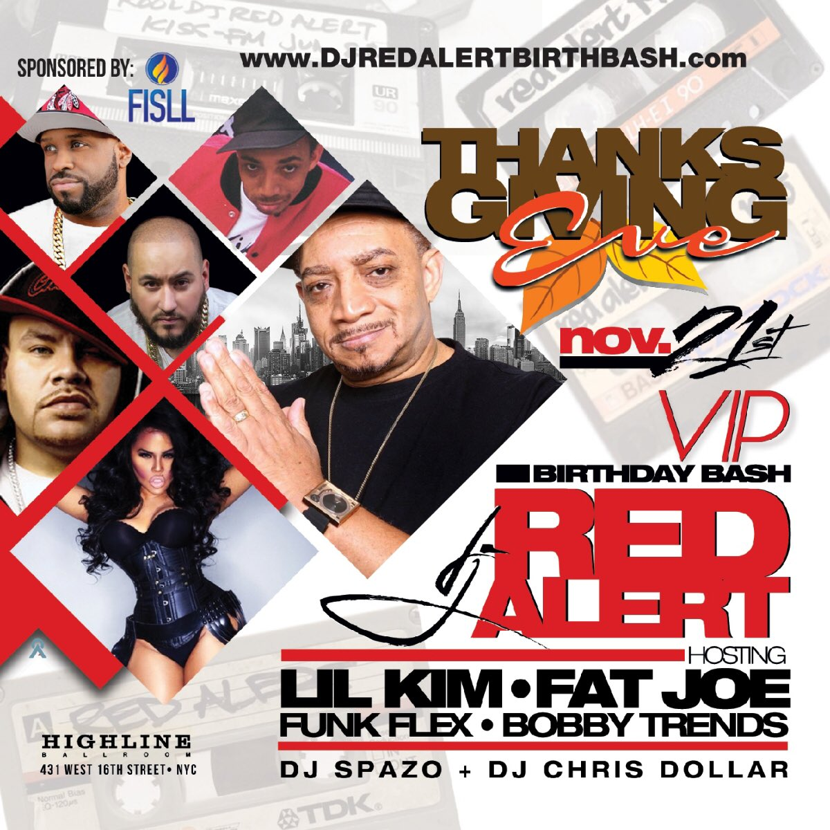 NYC!!! Starting Thanksgiving with y'all tonight along my boys @funkflex @fatjoe and more. ???????????? https://t.co/Us80GUgybV