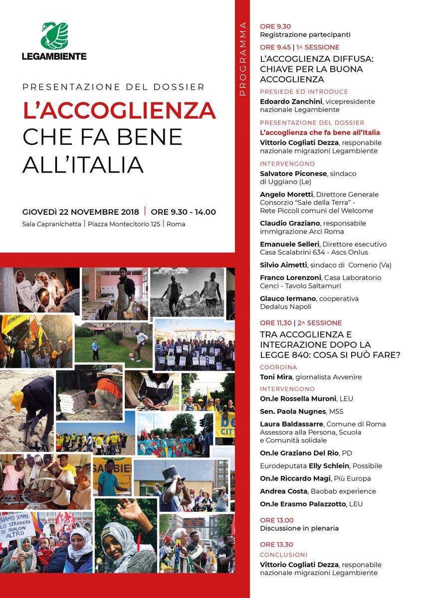 test Twitter Media - Immigrazione e sicurezza, domani #22novembre presentiamo il dossier L'#Accoglienzachefabene all'Italia. Per raccontare un'accoglienza diffusa, fiore all'occhiello del nostro paese, che favorisce lo sviluppo ma che il DL113 mette fortemente in crisi. -> https://t.co/ENB8HU5AEz https://t.co/iRrOcnWmwk