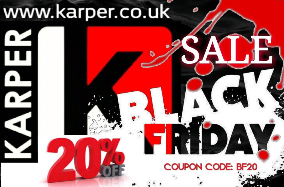 BLACK FRIDAY 20% DISCOUNT OFF ALL ORDERS- #carp #carpfishing #carpy #<b>Karper</b>ltd #BlackFridayDe
