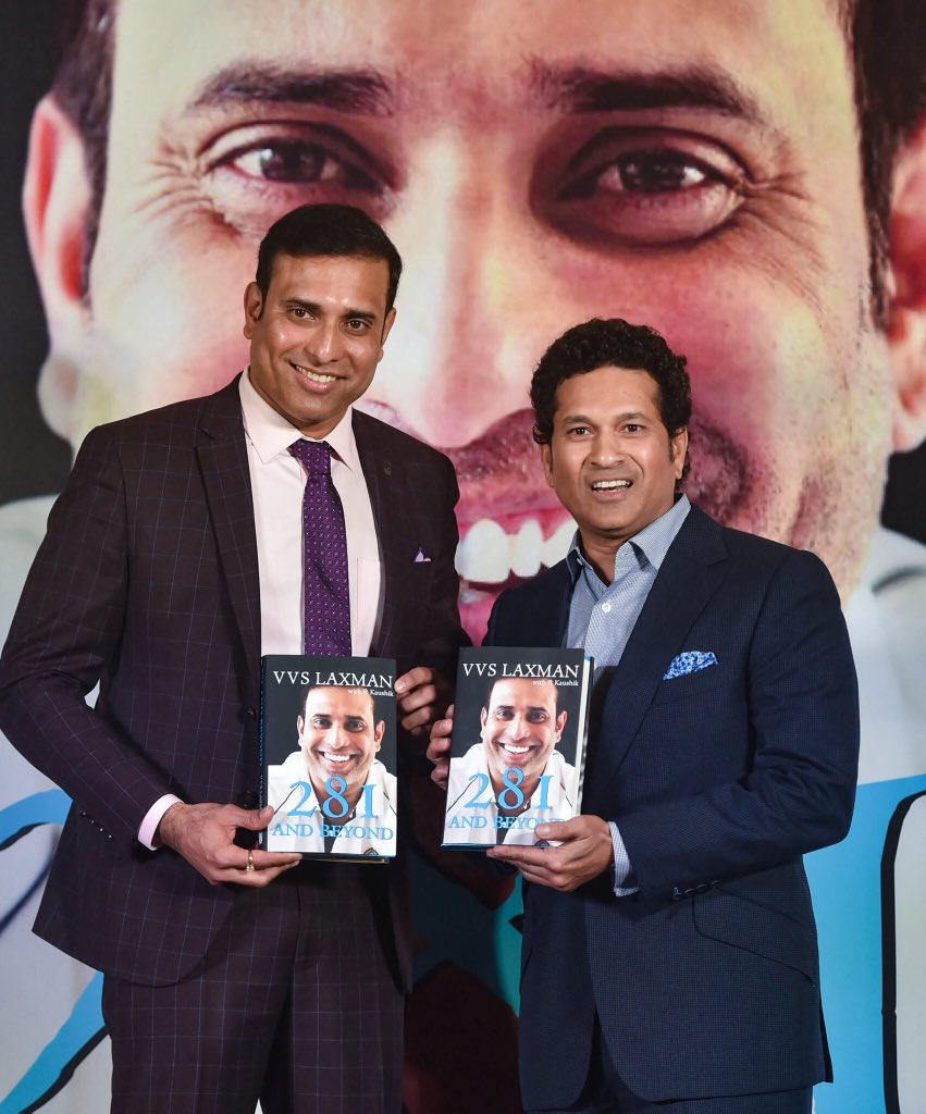 It was a fun and nostalgic evening with my dear friend @vvslaxman281. Your book #281andBeyond is going to be a 'VVS' read for all cricket fans.