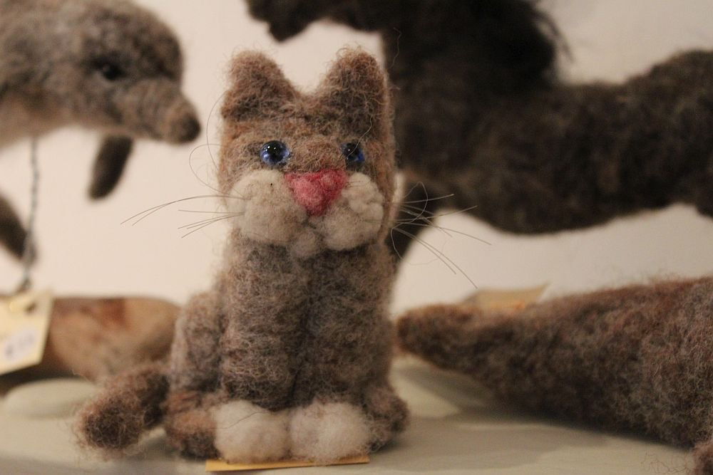 Image for This very cute little kitty was created by Sue Wilson who as you can see is an extremely talented needle-felter. Sue will be in the School House Gallery today from 1pm demonstrating her craft-work. Come along and meet the artist #powys #midwales #crafts #art #creativity #buylocal https://t.co/e5ld5eRwFJ