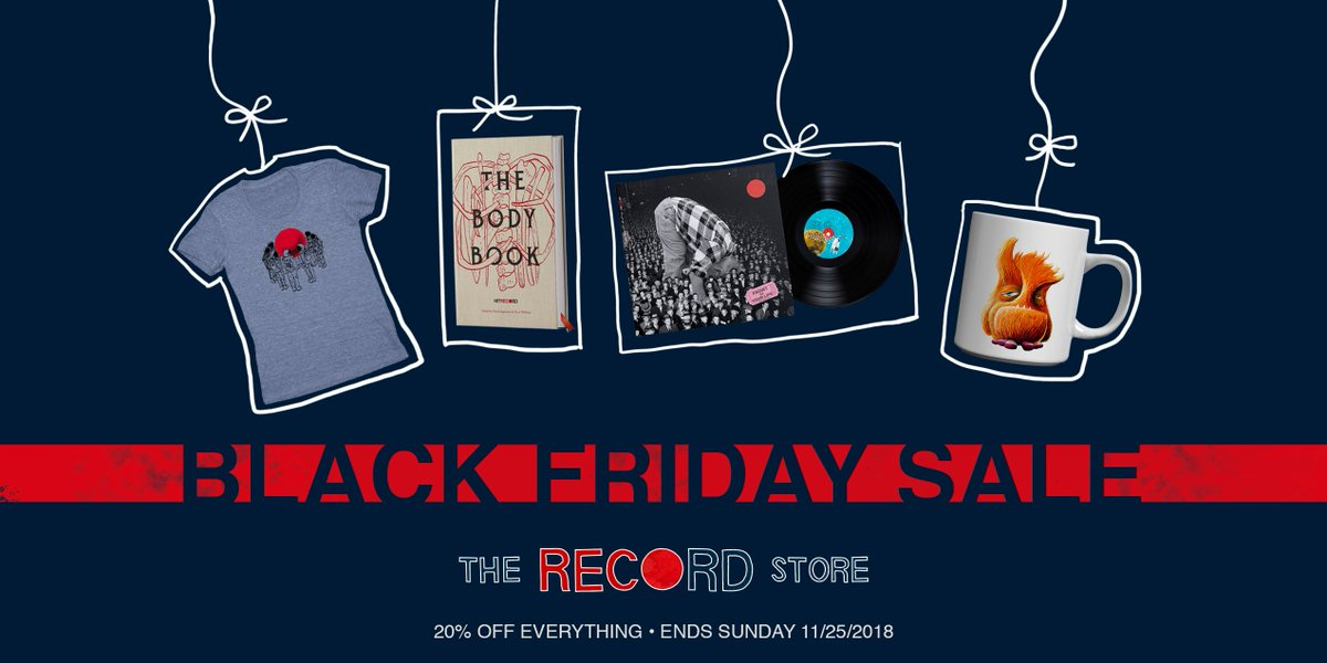 RT @hitRECord: Check out our special #BlackFriday sale! 20% off the entire RECord store https://t.co/krAXkZ79ys https://t.co/kHMGwHYQF3