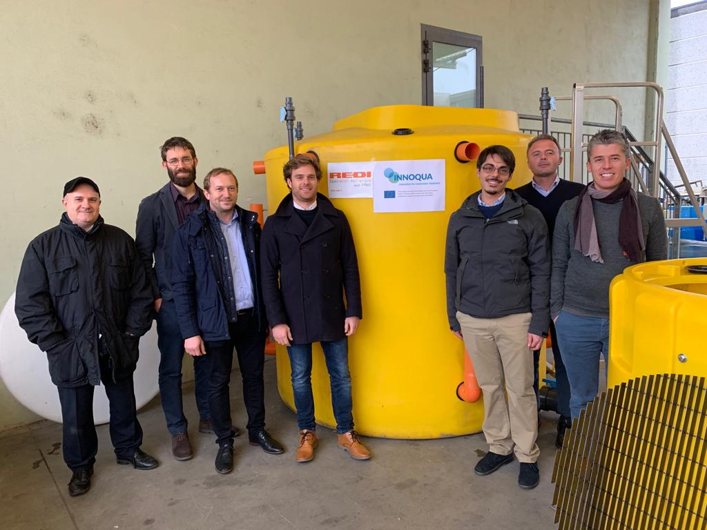 Last check of the tanks for our INNOQUA demo sites: Partners from @NobatekInef4 , @R2MSolution , and Ecoind paid a visit to our partner REDI in Guadamiglio in Italy, the manufacturer of the tanks.  #sanitation4all https://t.co/JRZ8MKtcFF