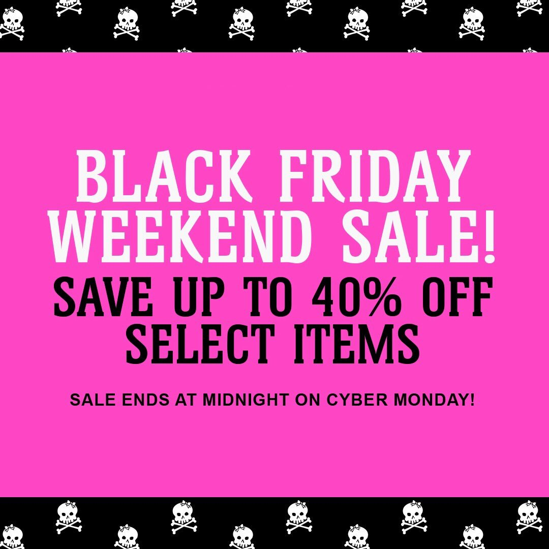 Black Friday weekend sale is on now ???? Head over to https://t.co/e6ujN1lWtu and save up to 40% off select items https://t.co/0VcLrctmCk