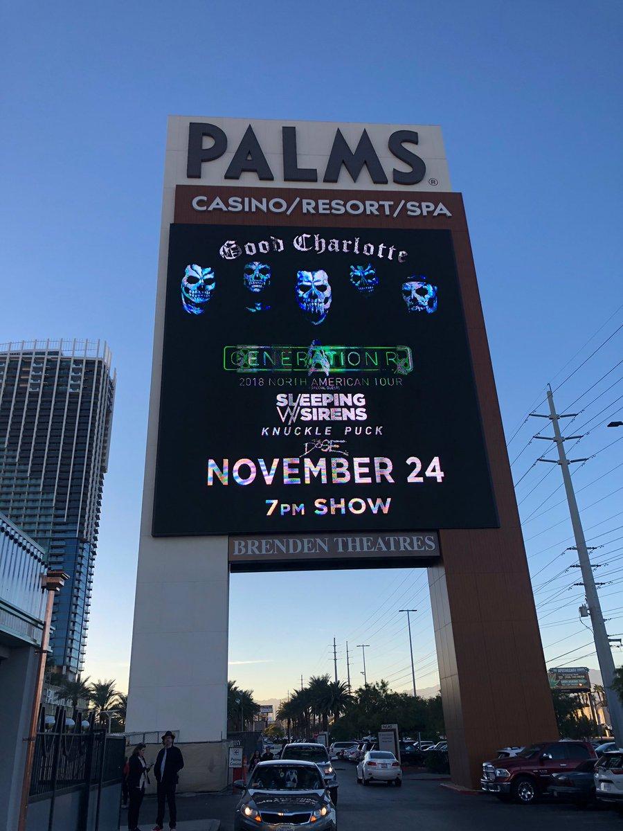 RT @GoodCharlotte: Tonight at The @Palms!! https://t.co/I8QpQWRUch