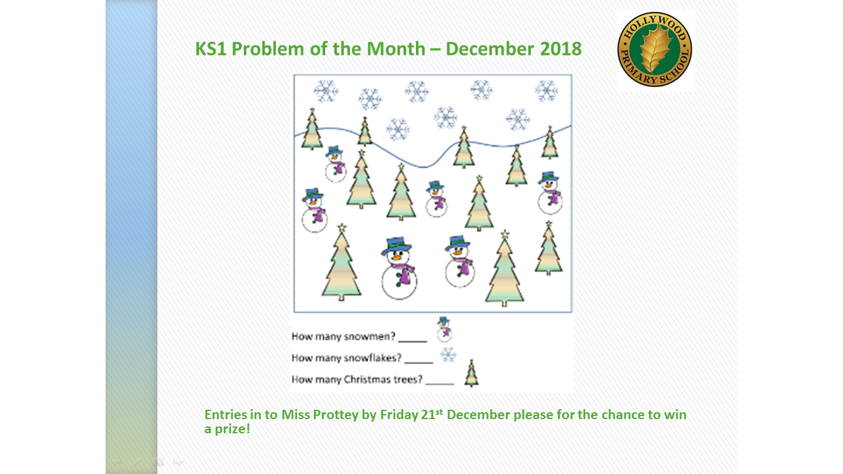 test Twitter Media - Festive challenges for December's Maths Problem of the Month. We have already received quite a few entries so make sure you submit yours for a chance to win! https://t.co/LKk7dWfgGm