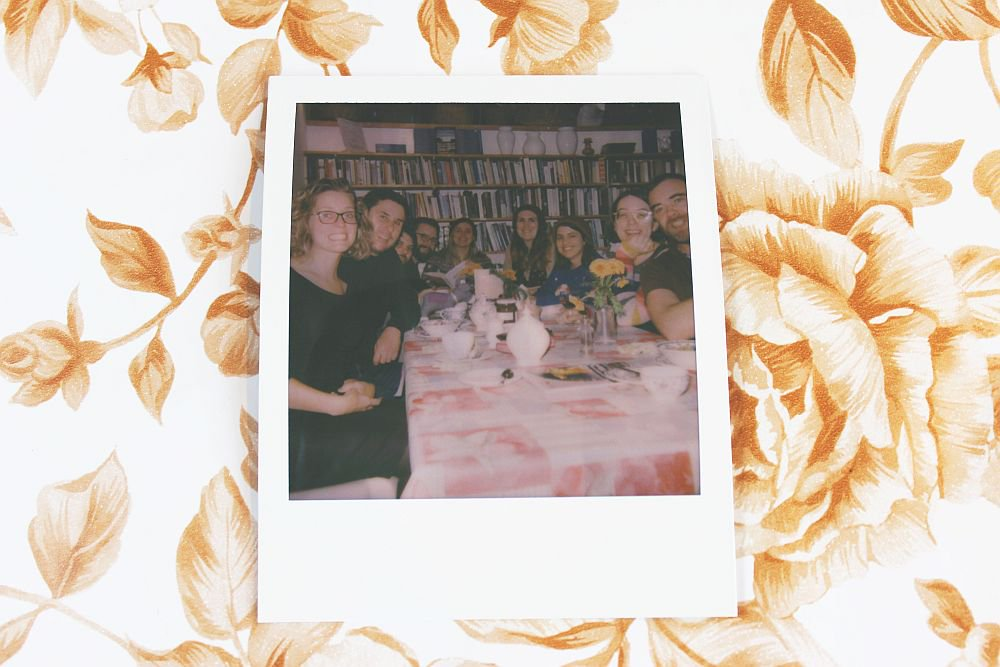 Image for Lovely to see this group enjoying some refreshments in the Reading Room Cafe! Also super to take a Polaroid for them with their camera! 📸 #oldschool #newschool #schoolhousegallery #SundayVibes #Powys #MidWales https://t.co/ur03ggNbzf