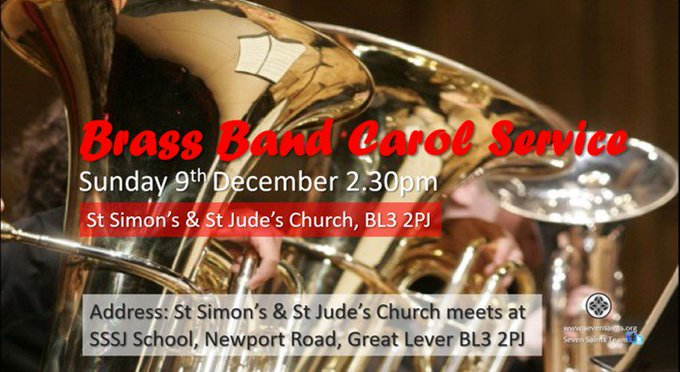 Please come along and enjoy the Brass Band Carol Service - see flyer for more details. https://t.co/7ylVndYN3Z