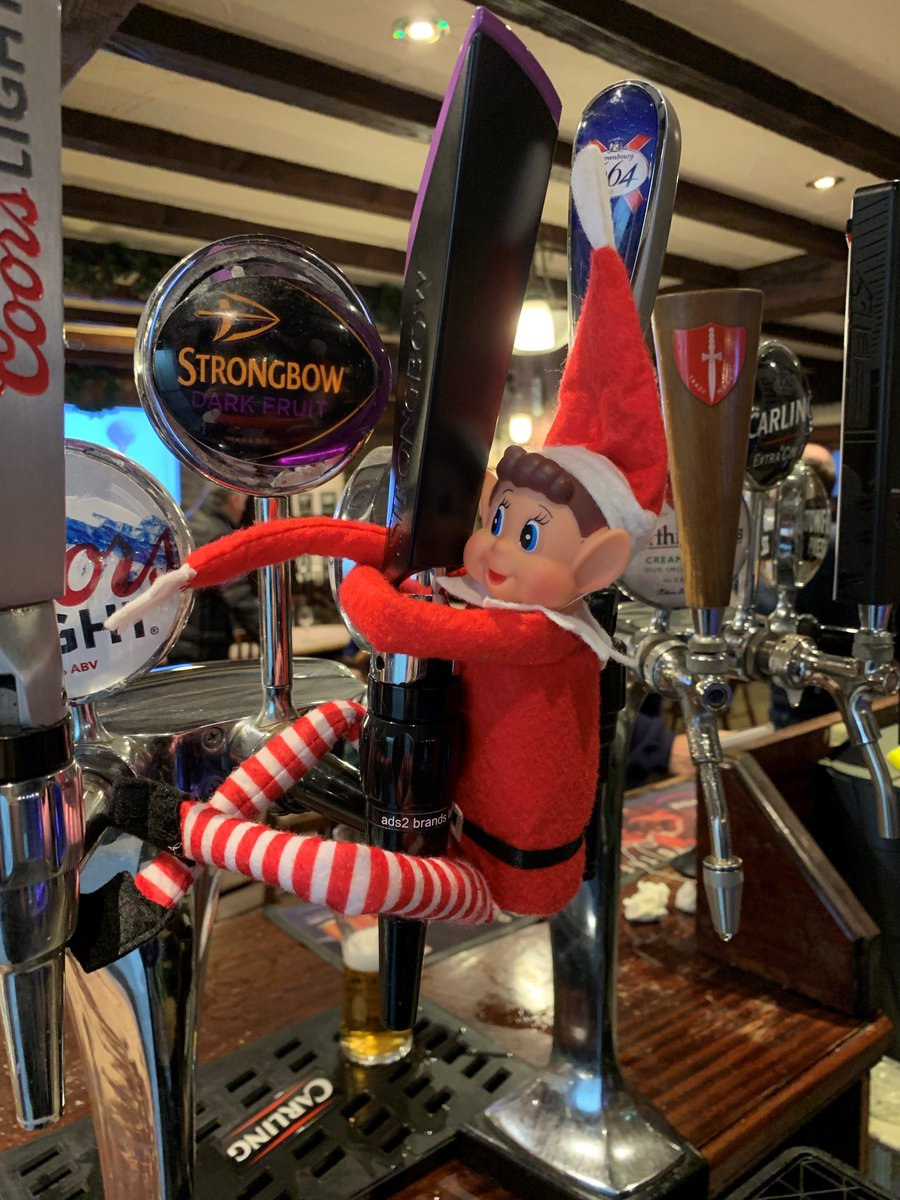 test Twitter Media - 'Elfis' has been missing from the office all day.. It appears he has that 'Friday Feeling'!✨  We've found him having a Festive Dark Fruits with member Kenny in the Bar🍻🎄  Did you know Visitors are welcome in our Bar & Restaurant as well!? We'd love to see you at Cottrell Park! https://t.co/A59JEI19MW