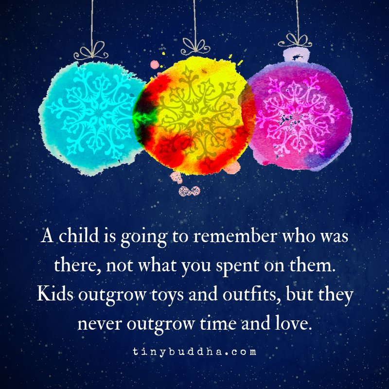A child is going to remember who was there, not what you spent on them. Kids outgrow toys and outfits, but they never outgrow time and love. https://t.co/Y8Cqr30crW