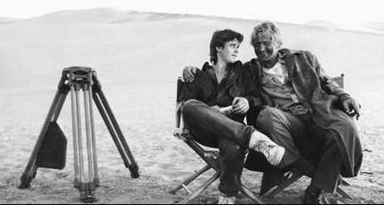 On the set of THE HITCHER (1986) Happy Birthday, C. Thomas Howell