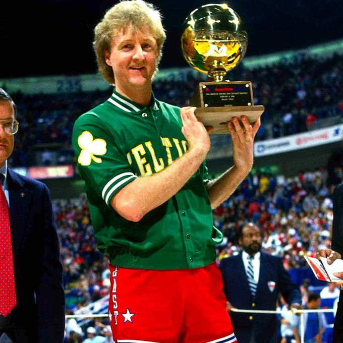 Happy Birthday to NBA legend Larry Bird!! Bird turns 62 today. What is your favorite Larry Bird moment??