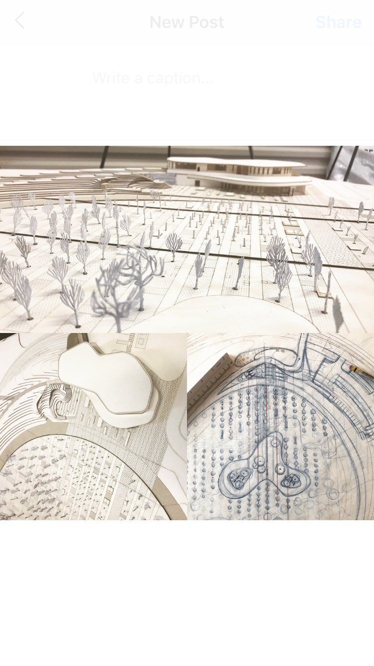 Process and progress are so closely intertwined in #design that sometimes it's hard to separate the two. A heritage garden #sketch from 6months ago and a #model from this week's #bonnetspringspark presentation.#landarch + #architecture @sistrx @SasakiDesign #designthinking https://t.co/CDoCn2Olqv