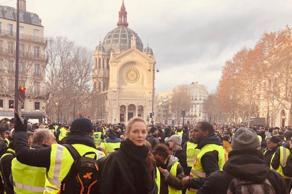 RT @ParisMatch: Uma Thurman avec les