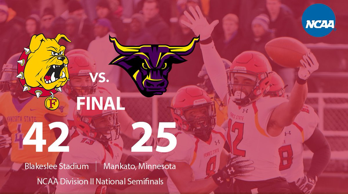 RT @FerrisState: That's it. The @FerrisFootball team will play for the @NCAADII National Championship. #FERR1S https://t.co/ObUWJVNTnv