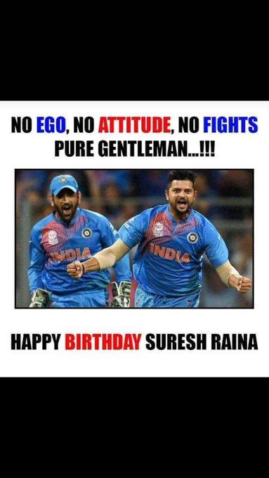 Happy birthday to gentlemen of Indian cricket team suresh Raina