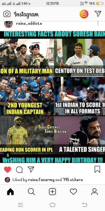 happy birthday Suresh Raina sir I love your batting and fielding