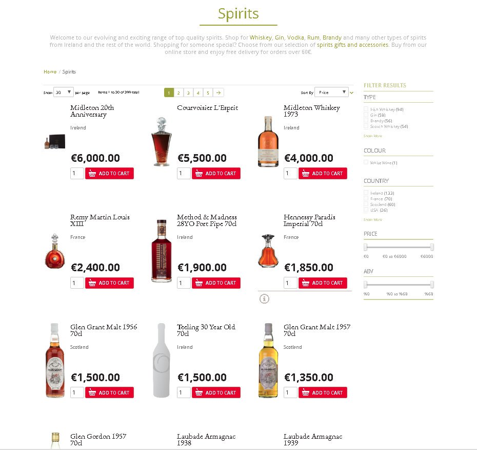 Our premium range of spirits now available on our website (^Paul Barry) https://t.co/MIVuaQDaQj
