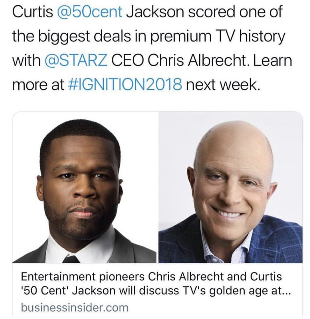 Chris took HBO to the top, now watch what we do with STARZ . ????#lecheminduroi #bellator https://t.co/62iO2jDaxF