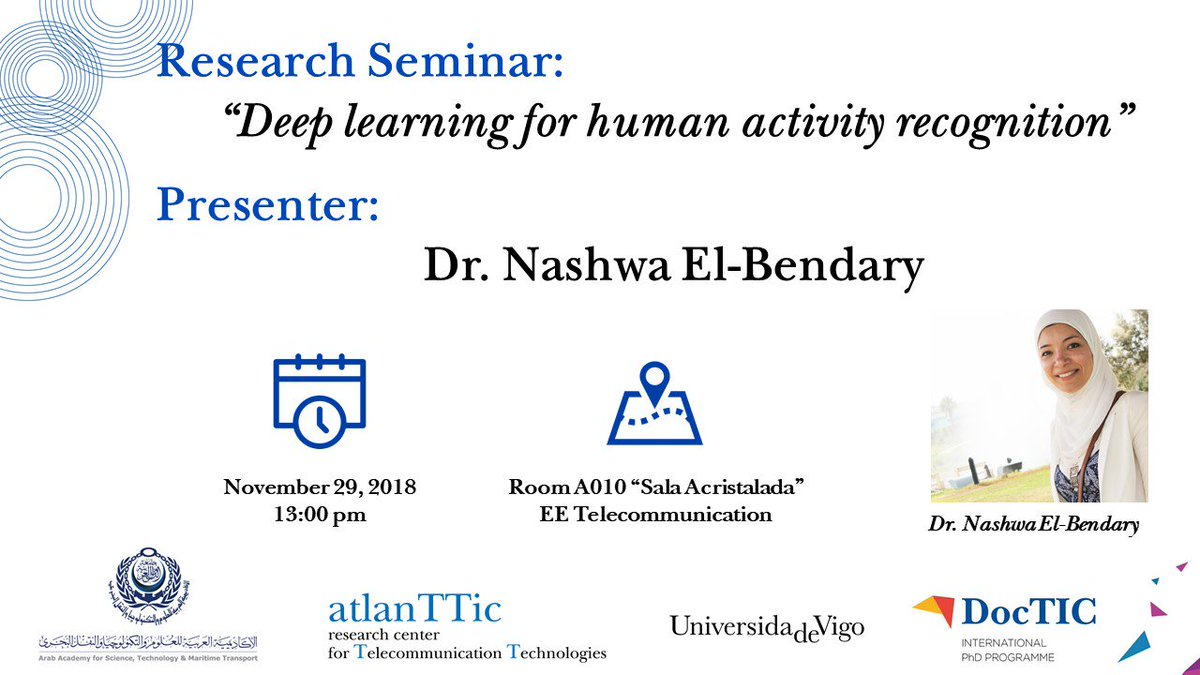 test Twitter Media - Dentro das actividades de @DocTIC mañá terá lugar un seminario sobre #DeepLearning a cargo da Dr. Nashwa El-Bendary do                     @AASTMTeg https://t.co/aXq7LU3YC3