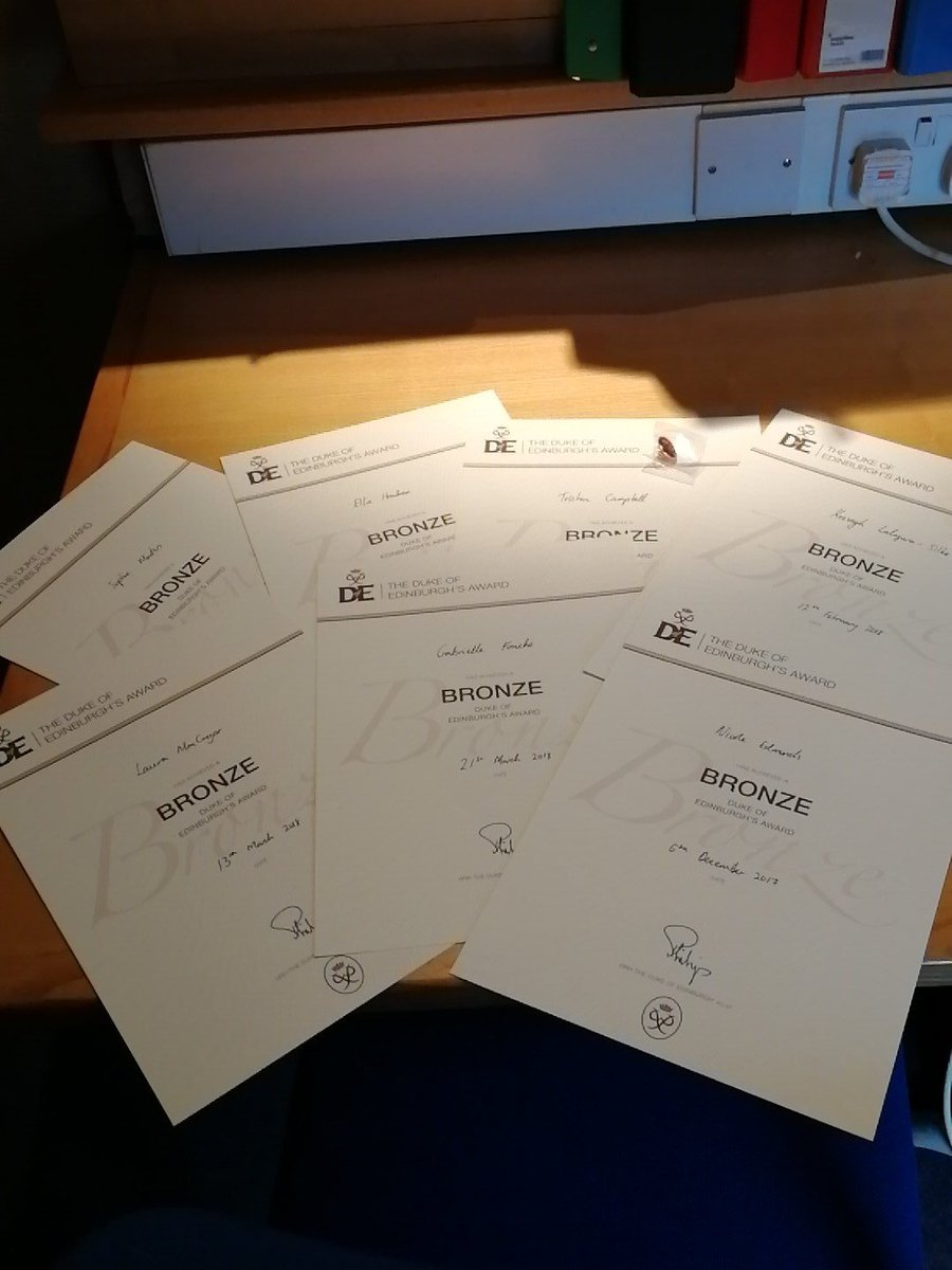 test Twitter Media - RT @DofECCC: Lots of bronze certificates ready to go! https://t.co/Xzjkor8oU5