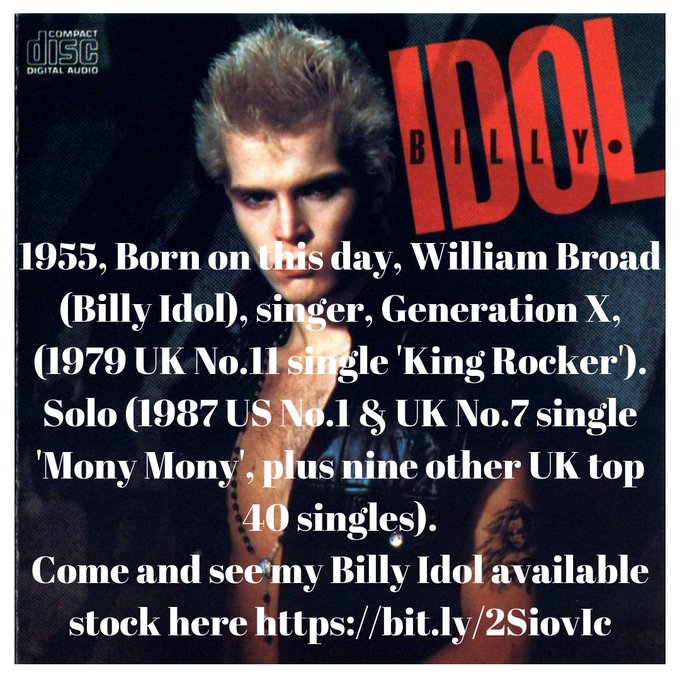 Happy Birthday Billy Idol,