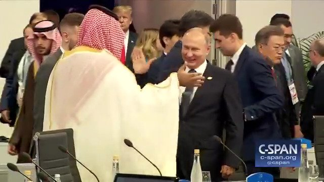 RT @cspan: Russian President Vladimir Putin and Saudi Crown Prince Mohammed bin Salman at #G20Summit https://t.co/AzvHXg2oWX