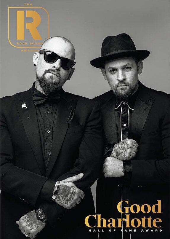 RT @GoodCharlotte: Thank you to @Rocksound for the Hall of Fame award. https://t.co/5UwvhyoM8e https://t.co/pFlF3UbVLz
