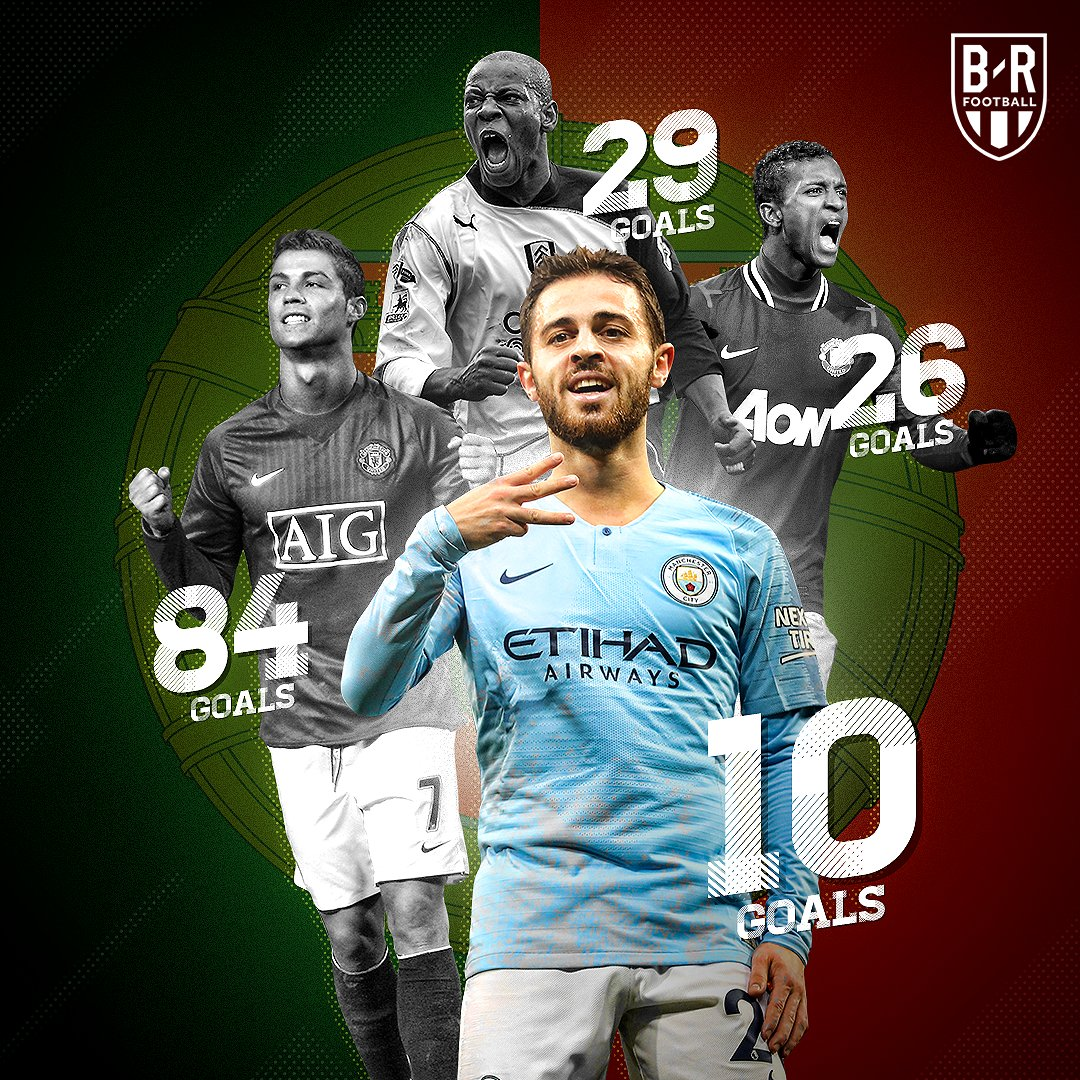 RT @brfootball: 🇵🇹💯  @BernardoCSilva is the fourth Portuguese player to hit double-digits in the Premier League https://t.co/cy6z4hw76m