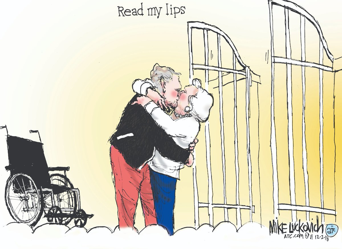 Ajc Cartoonist Remembers Former President George H W Bush And