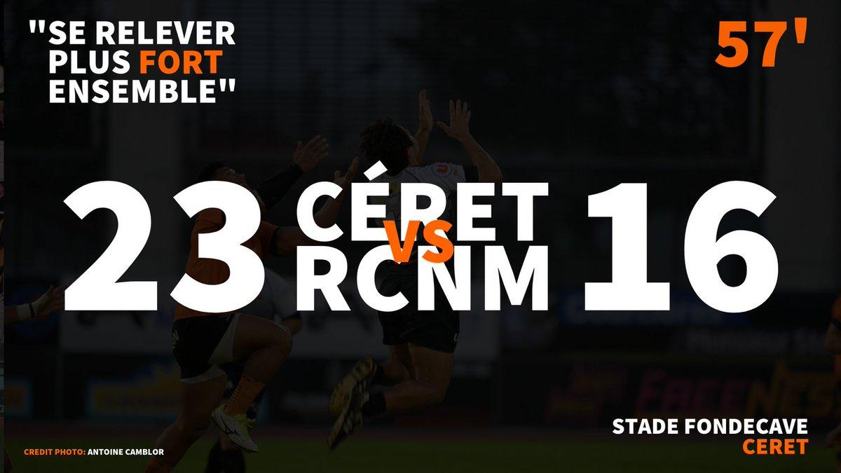 #CSRCNM | LIVE-SCORE  Nouvelle essai pour Céret !  #RCNM #RUGBY #FEDERALE1 #FFR...