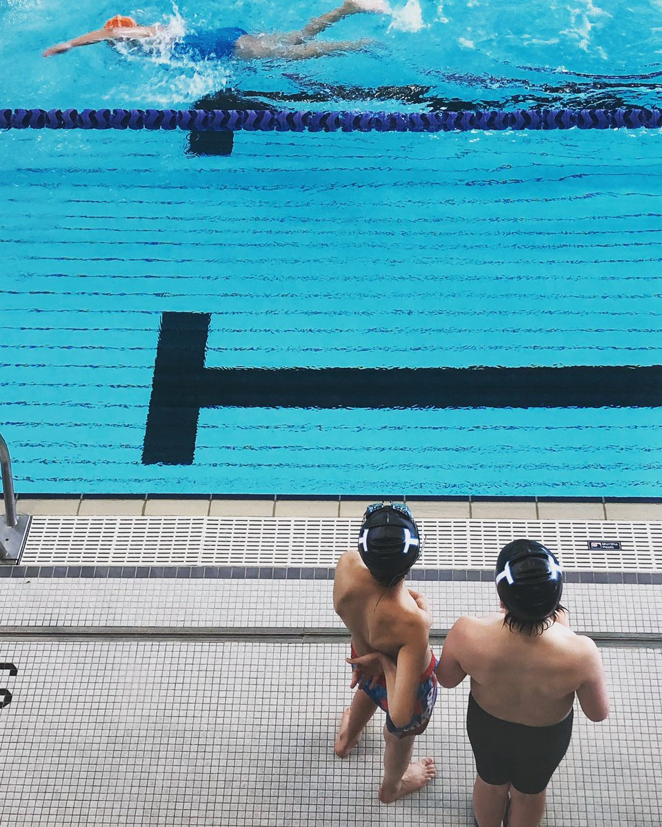 """test Twitter Media - Bratlett & friend sizing up the competition here at his Future Stars swim meet...or as I call it """"The too darn early in Mississauga event""""! ;-). #GoTSC https://t.co/EWg0alLaOo"""