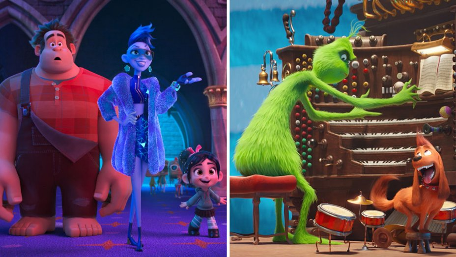 Box Office: RalphBreakstheInternet edges past TheGrinch to top quiet pre-holiday weekend