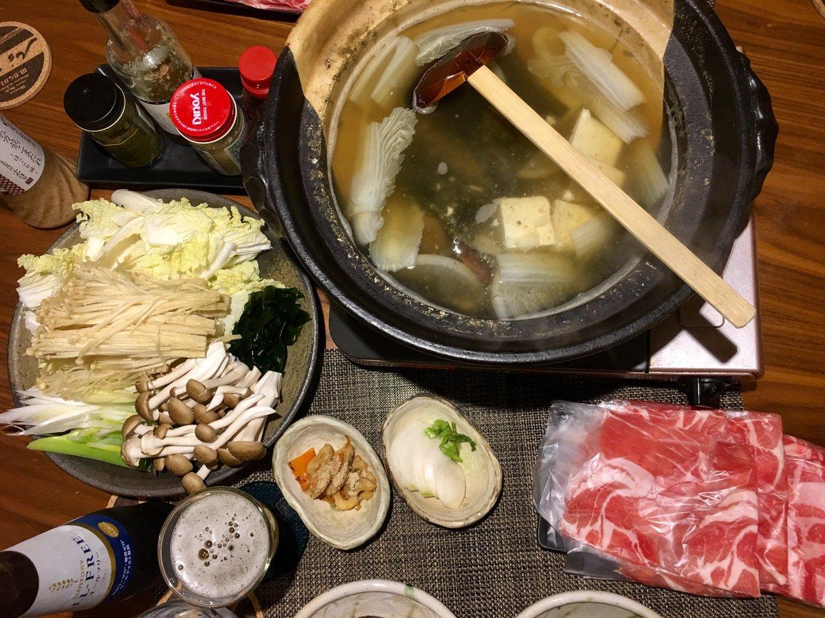 test ツイッターメディア - 晩ごはん。 豚肩ロースのしゃぶしゃぶ、自家製カブのぬか漬け、蓮根と人参のきんぴら。  お鍋が美味しい季節になってきましたね! とても美味しい京都のごまだれが手に入ったので、茅乃舎のつぶポン酢と二段構え! オールフリーで本日休肝日。  穏やかに、明日が迎えられるように。 https://t.co/MRx7xTlJQu