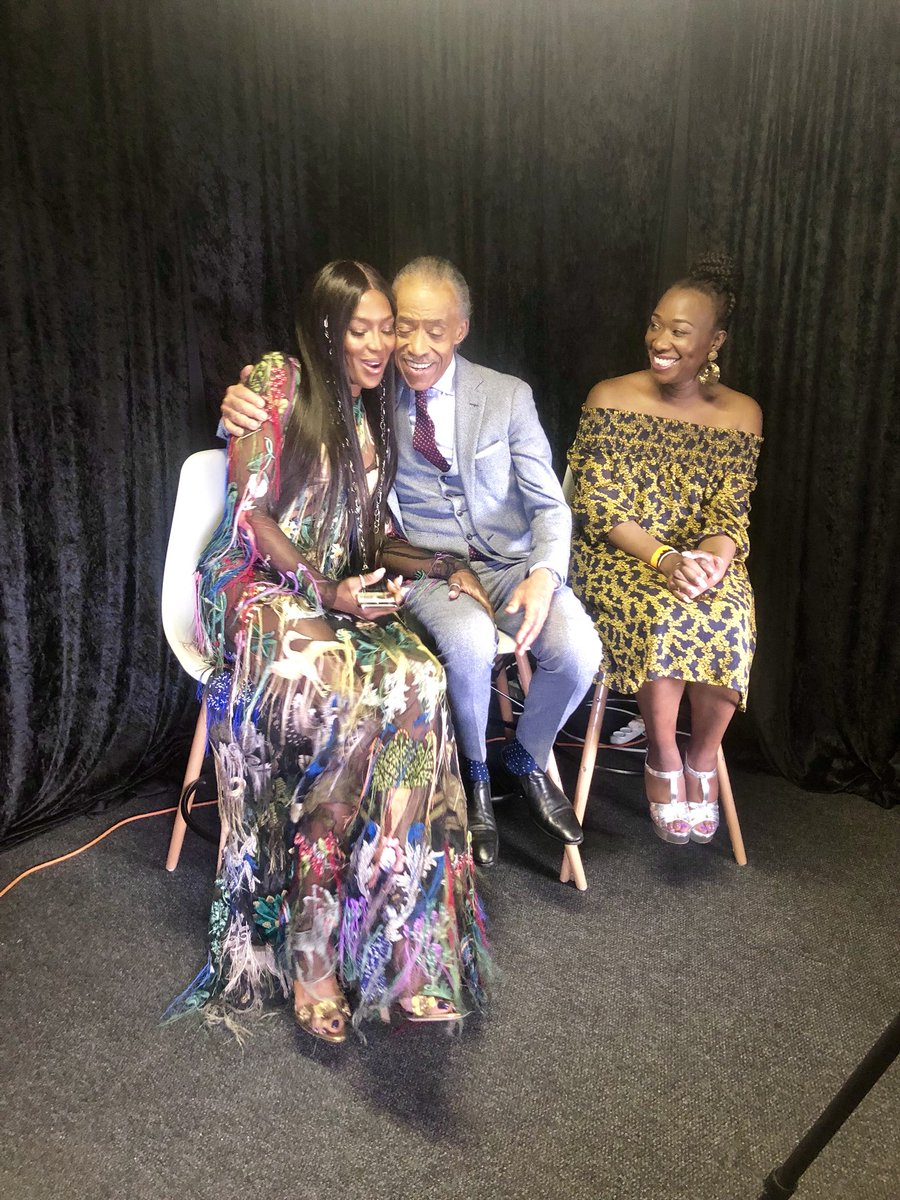 RT @TheRevAl: @NaomiCampbell did an interview with @JoyAnnReid & me at #GlobalCitizen https://t.co/0VKsDh2IHc