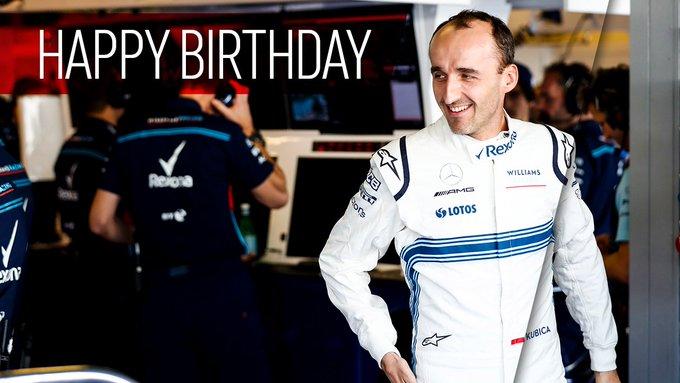 Happy birthday, Robert Kubica! The driver turns 34 today