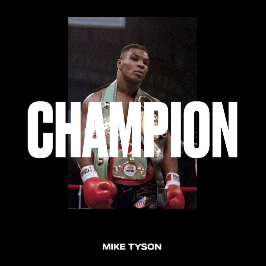 You can't buy a champion.  It's earned with blood sweat and tears.  #youngestheavyweightchampion #vintagetyson https://t.co/cuJjUse6Jj