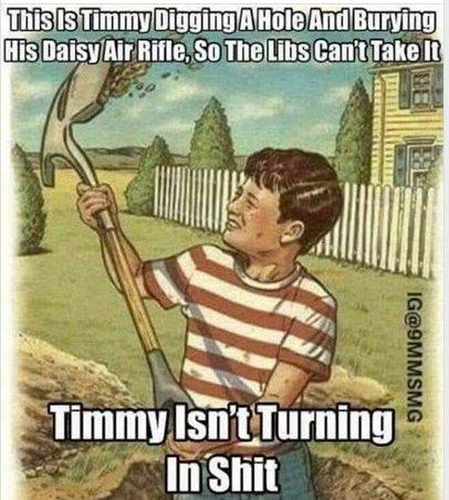 RT @Grand_Infidel: Timmy isn't turning in shit  #redflagwarning  #2A https://t.co/4xj1H7fGMC