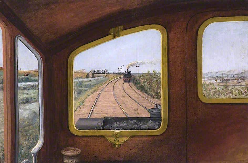 View through the Front Window of a Steam Locomotive, Herbert William Garratt - circa 1909. https://t.co/tx6roPfJDs