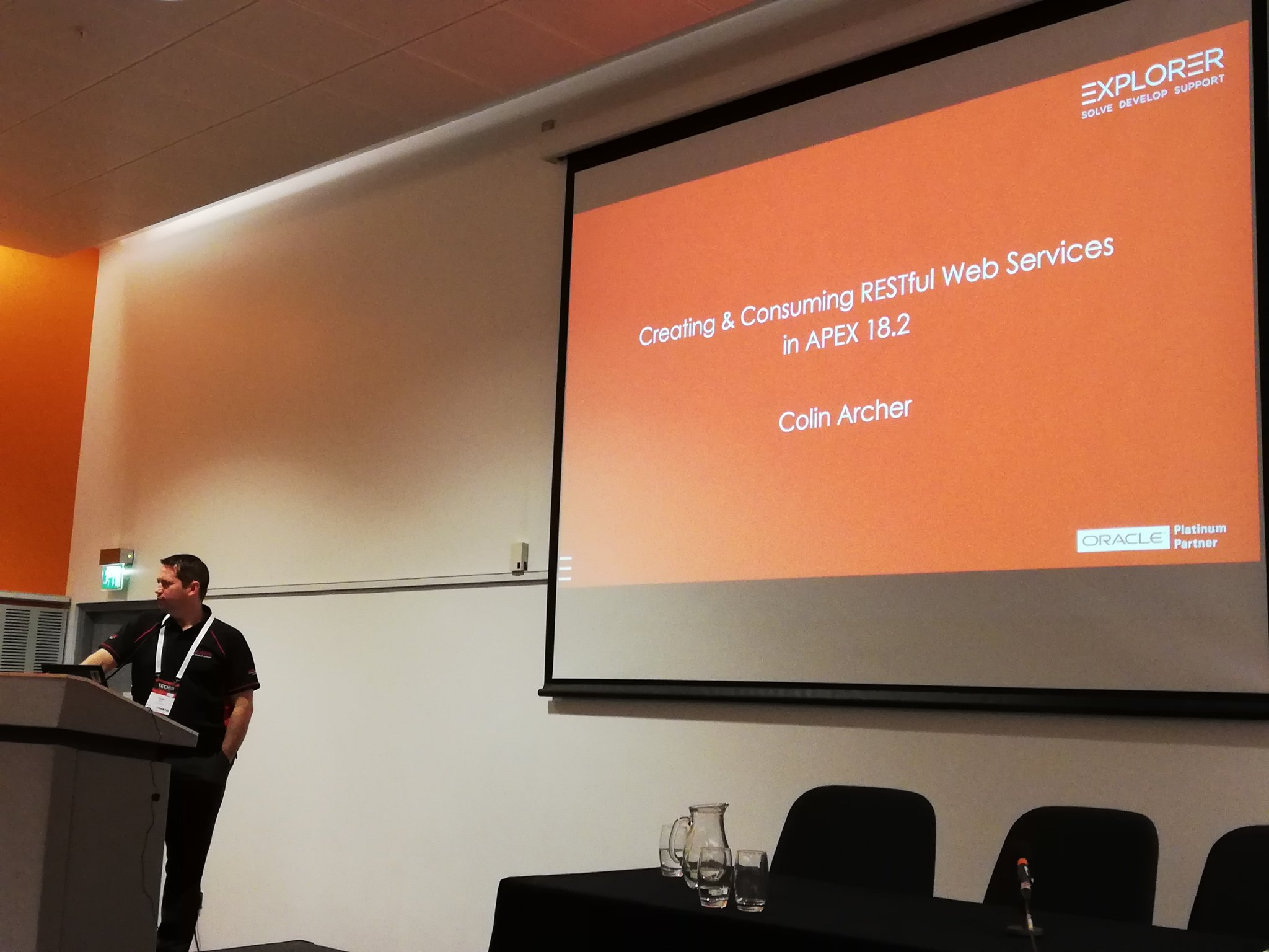 In a couple of minutes @carcher73 starting with a content filled session on RESTful Web services in #orclapex #ukoug_tech18 https://t.co/qxwuIbk4nM