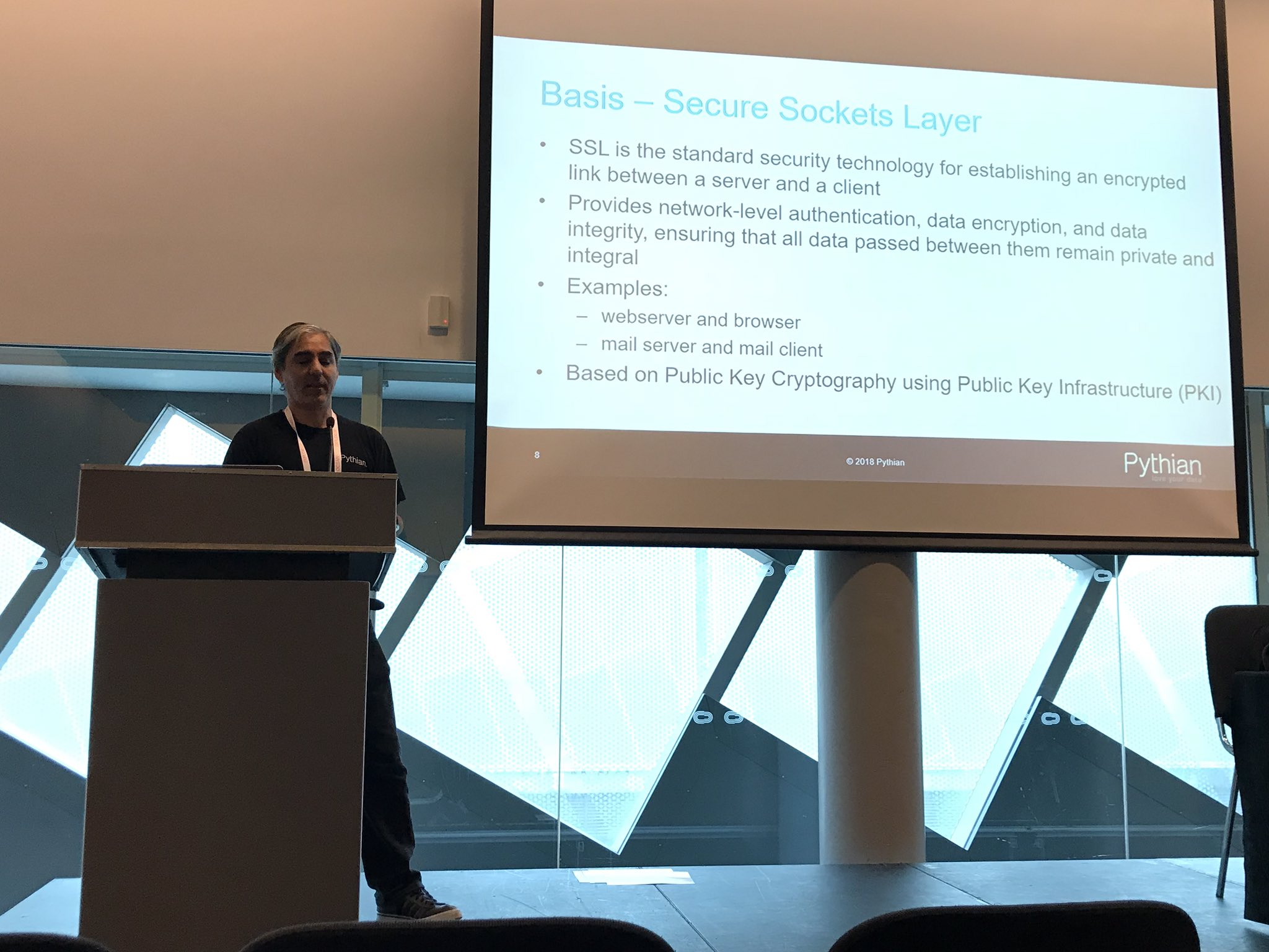 At #ukoug_tech18 @ncalerouy talking about SSL certificates in Oracle Database. @oracleace @Pythian https://t.co/FVpNwPYLnx