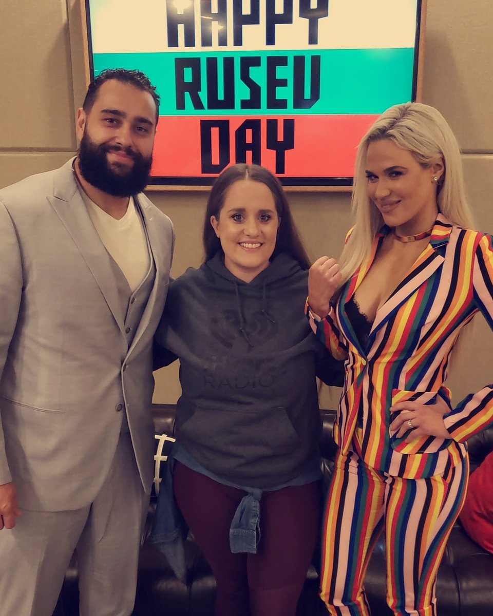 RT @ValSantosOnAir: Omg @LanaWWE and @RusevBUL were SO MUCH FUN!!!! The interview will be up shortly!! https://t.co/pOZQPS33Et