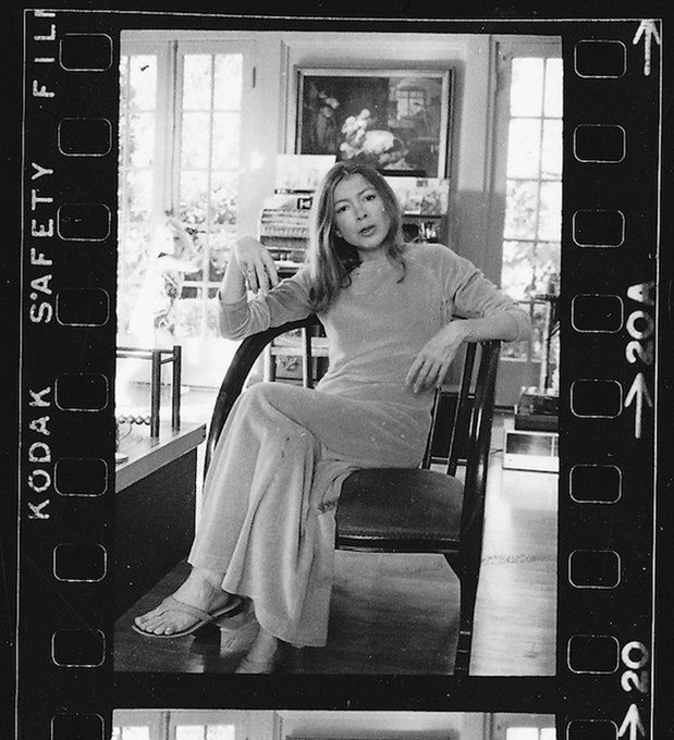 Happy birthday, Joan Didion. Born  We tell ourselves stories in order to live.