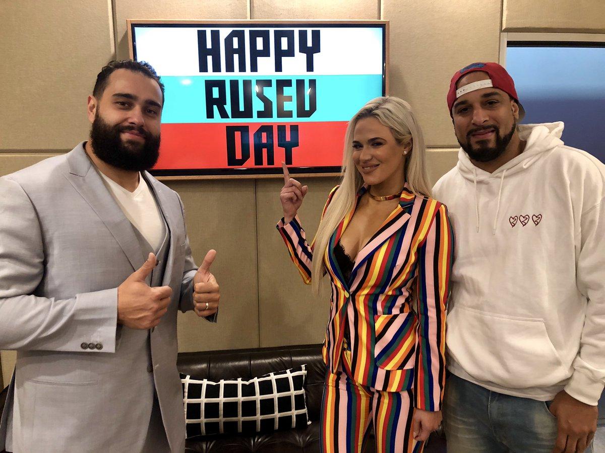 RT @djhellayella: . @RusevBUL & @LanaWWE stopped by @thebeatatx to celebrate Rusev Day! https://t.co/qKzryg0OVK