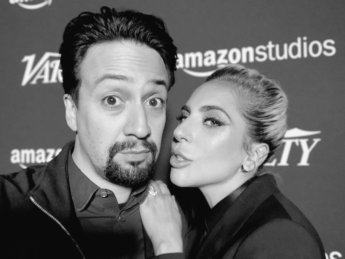 RT @Lin_Manuel: An afternoon with Lady Gaga.  This was so fun. https://t.co/JdK5chLlFv https://t.co/KLqRb7Druk