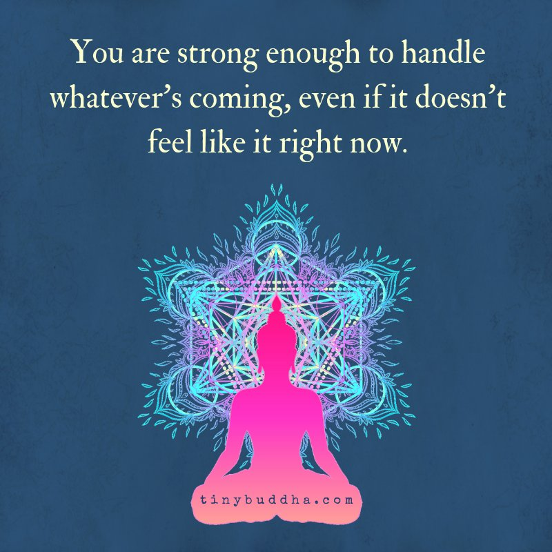 You are strong enough to handle whatever's coming, even if it doesn't feel like it right now. https://t.co/tgI56M5HuL