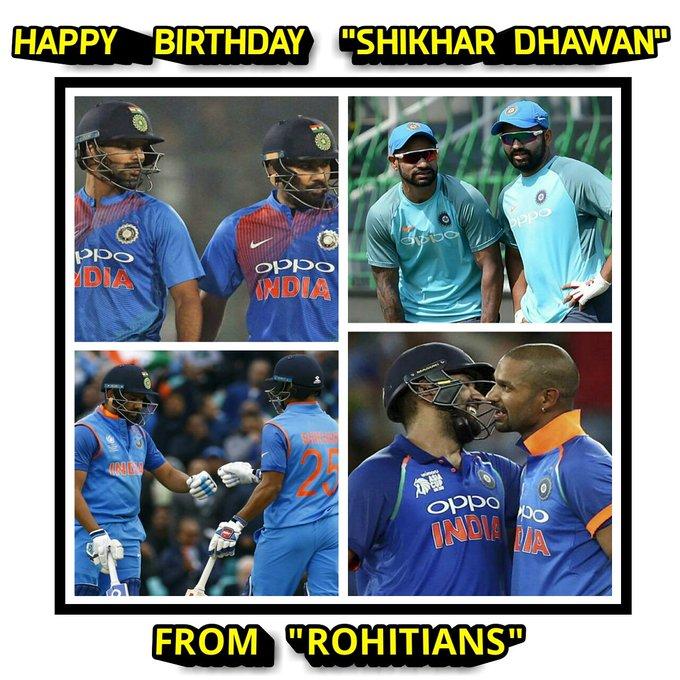 Happy bday shikhar dhawan.