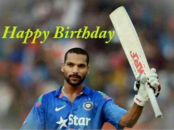 Wish you happy birthday     shikhar Dhawan